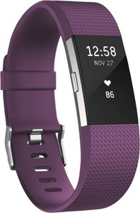 FitBit                     Charge 2, Small                                             Pflaume-Silber
