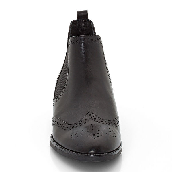 the best attitude 3a802 f504f Peckott Damen Chelsey Boots mit Budapester-Lochung