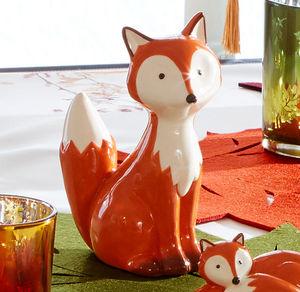 Deko-Fuchs aus Keramik, sitzend, ca. 12,5x7,5x17,5cm