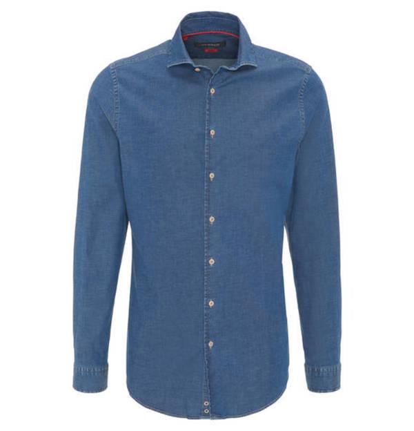 ROY ROBSON             Businesshemd, Slim Fit, Kent-Kragen, Jeans