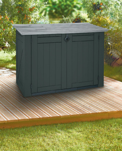 KETER Gartenbox / Mülltonnenbox  2 x 240 l inkl. Bodenplatte