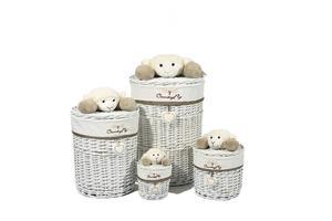 Kayoom Korb-Set Sheep II 204 Grau / Weiß