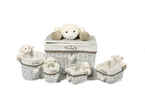 Kayoom Korb-Set Sheep I 202 Grau / Weiß