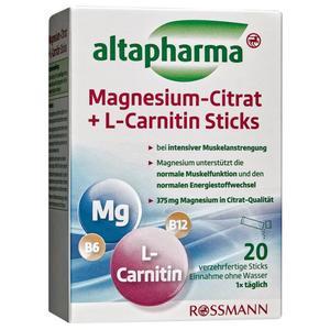 altapharma Magnesium-Citrat + L-Carnitin Sticks 3.33 EUR/100 g