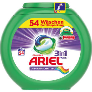 Ariel 3in1 PODS Colorwaschmittel 54 WL 0.24 EUR/1 WL