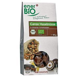 enerBiO Bio Ganze Haselnüsse in dreierlei Schokolade 3.52 EUR/100 g