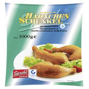 Sprehe Hähnchenschenkel HKl. A, gefroren, jeder 3-kg-Beutel