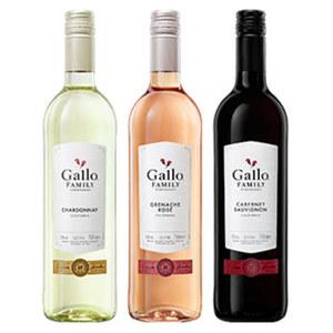 Kalifornien  Gallo Family Vineyards versch. Sorten, 0,75-l-Flasche, ab 3 Flaschen je