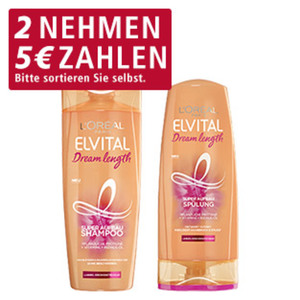 Elvital Shampoo oder Spülung versch. Sorten, 300/250-ml-Flasche