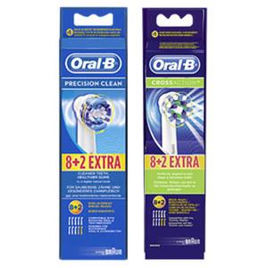Oral-B Aufsteckbürsten 8+2 Cross Action oder Precision Clean, jede Packung
