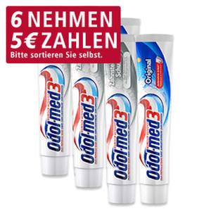 Odol-med3 Zahncreme Original, Minzfrisch, Extra White oder Zahnsteinschutz, 75-ml-Packung