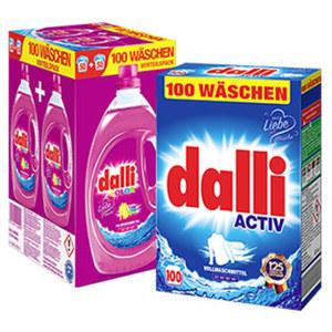Dalli Waschmittel 100 Waschladungen, jede Packung
