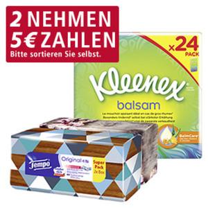 Kleenex Balsam Taschentücher jede 24 x 9er-Packung
