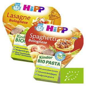 Hipp Kinder Bio Pasta versch. Sorten, jede 250-g-Schale