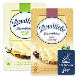 Landliebe Landkäse Deutscher Schnittkäse, 45 % Fett i. Tr., versch. Sorten, jede 150-g-Packung