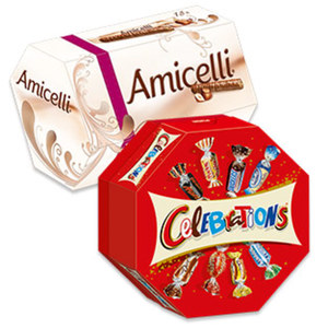 Celebrations oder Amicelli jede 186/225-g-Packung