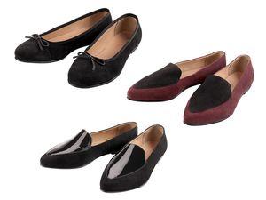 Damen Leder-Ballerinas/-Loafers