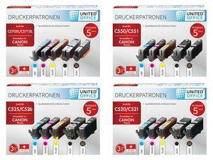 UNITED OFFICE® Canon Druckerpatronen-Multipack