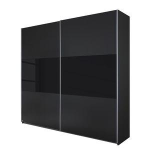 Schwebetürenschrank Loriga - Graumetallic / Glas Schwarz - 261 cm (2-türig), Rauch Packs