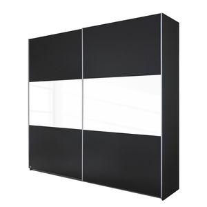 Schwebetürenschrank Loriga - Graumetallic / Glas Weiß - 261 cm (2-türig), Rauch Packs