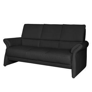Sofa Patay (3-Sitzer) Echtleder - Ohne Schlaffunktion - Schwarz, Nuovoform