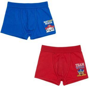 Jungen Boxershorts - 2er Set , Paw Patrol blau, rot Gr. 122/128