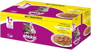 Whiskas ® Adult 1+ Geflügelauswahl in Gelee 40x100g