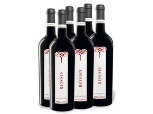 6 x 0,75-l-Flasche Weinpaket Bellanova Rosso Salento IGP trocken, Rotwein
