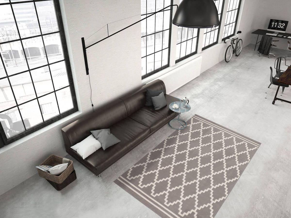 Bild 4 von KAYOOM Designerteppich Lina 200 Taupe / Elfenbein