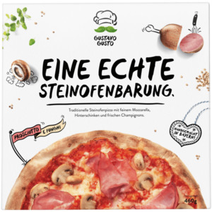 Gustavo Gusto Pizza Prosciutto e funghi 460g