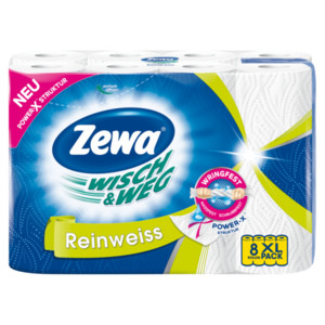 Zewa Wisch & Weg Reinweiß 8x45 Blatt
