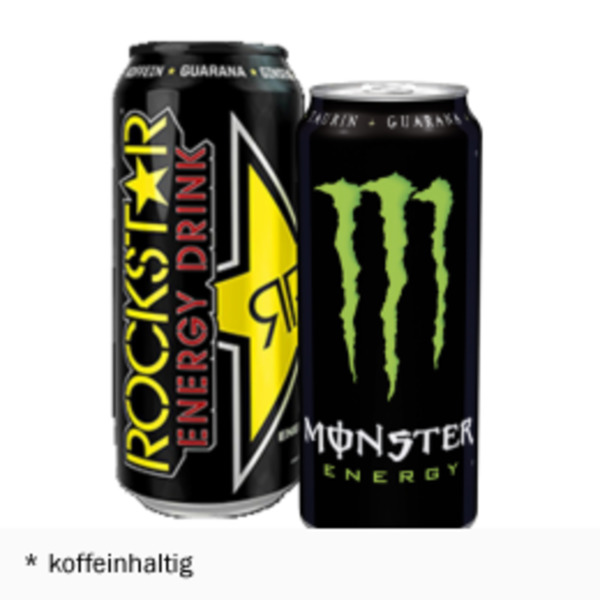 monster energy drink oder rockstar von hit ansehen. Black Bedroom Furniture Sets. Home Design Ideas