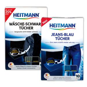 Heitmann Wäsche-Schwarz / Jeans-Blau Tücher