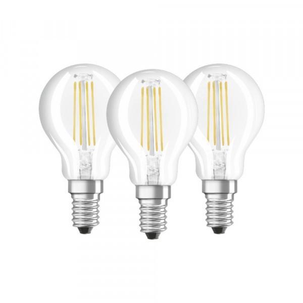 Osram LED Tropfenlampe Base CLP40 ,  E14 -4 W, 3er Packung