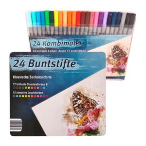 24 Buntstifte / Kombimaler