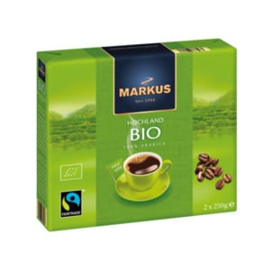 MARKUS     Bio Kaffee, Fairtrade