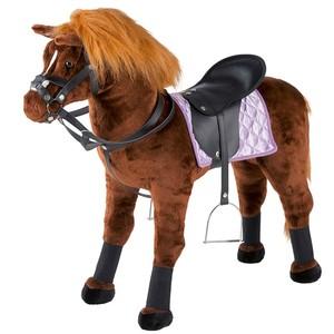 Happy People Springpferd Pferd mit Sound inkl. Sattel und Trense