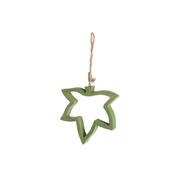 Dekoanhänger Blatt, L:24cm, grün