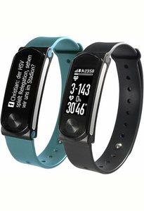 Sportplus Fitness-Armband/Smartwatch, inklusive 2 Armbänder und Herzfrequenzmesser, »Q-Band HR+ SP-AT-BLE-90«