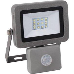 LED-Strahler mit Bewegungsmelder Flare 10 W Silber EEK: A+