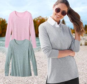 Laura Torelli Classic Damen-Pullover mit angesagtem Noppenmuster