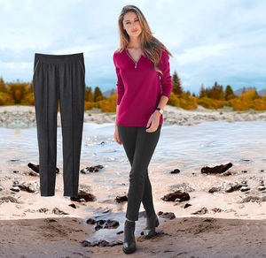 Laura Torelli Classic Damen-Joggpants mit elastischem Bund