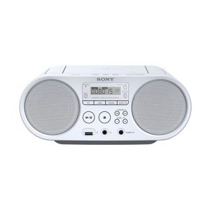 Sony ZS-PS50 (weiß) - CD Boombox (2 W + 2 W, CD, UKW, USB, Batteriebetrieb)