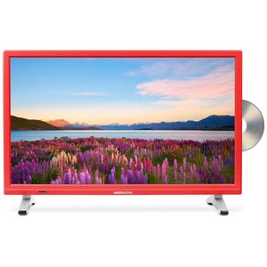 Medion P12501 (MD 21501) rot - 54,6 cm (21,5 Zoll) Fernseher (Full HD, Triple Tuner (DVB T2), DVD Player, USB)
