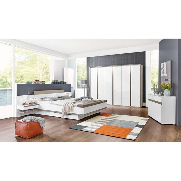MONDO Schlafzimmer CATUN Weiß matt/Brillantweiß Hochglanz von porta ...