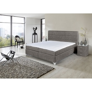 Boxspringbett TOPMOTION Stoffbezug Mine Hunter ca. 140 x 200 cm H2