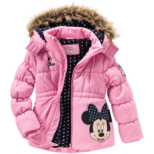 Minnie Maus Winterjacke mit Fellimitat