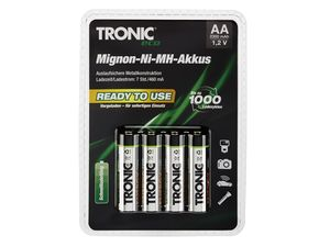 TRONIC® Ready to use-NiMH-Akkus