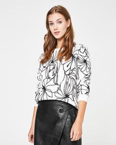Sweatshirt mit Scribble-Print