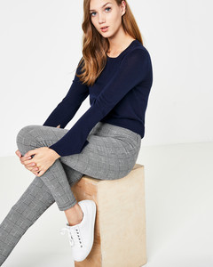 Jersey-Leggings mit Glencheck-Muster